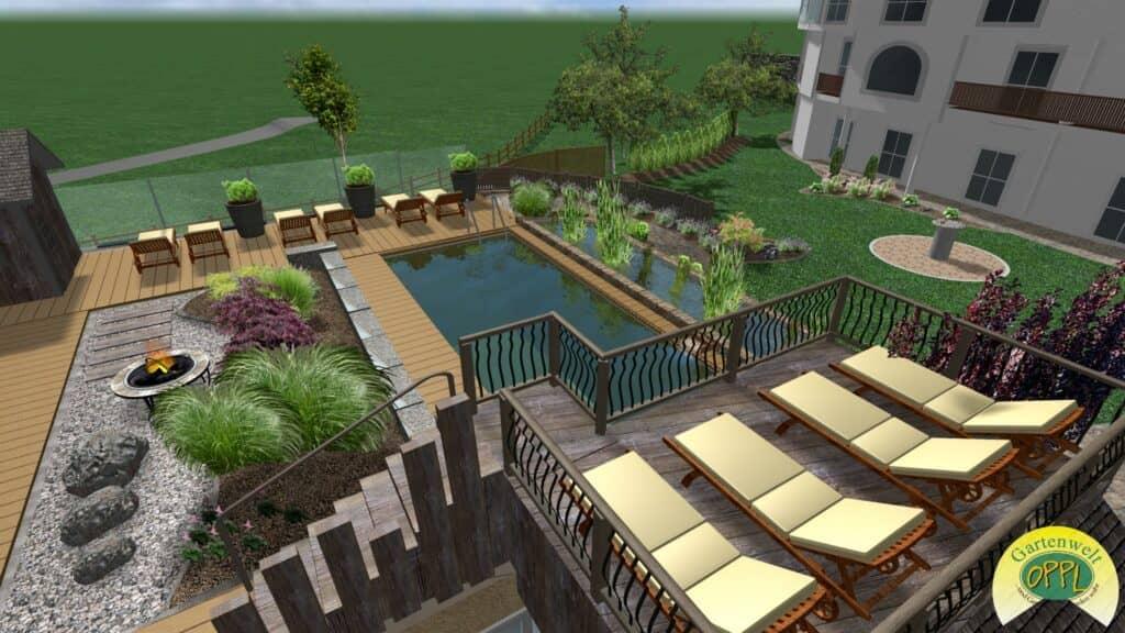 Gartenplan Naturpool