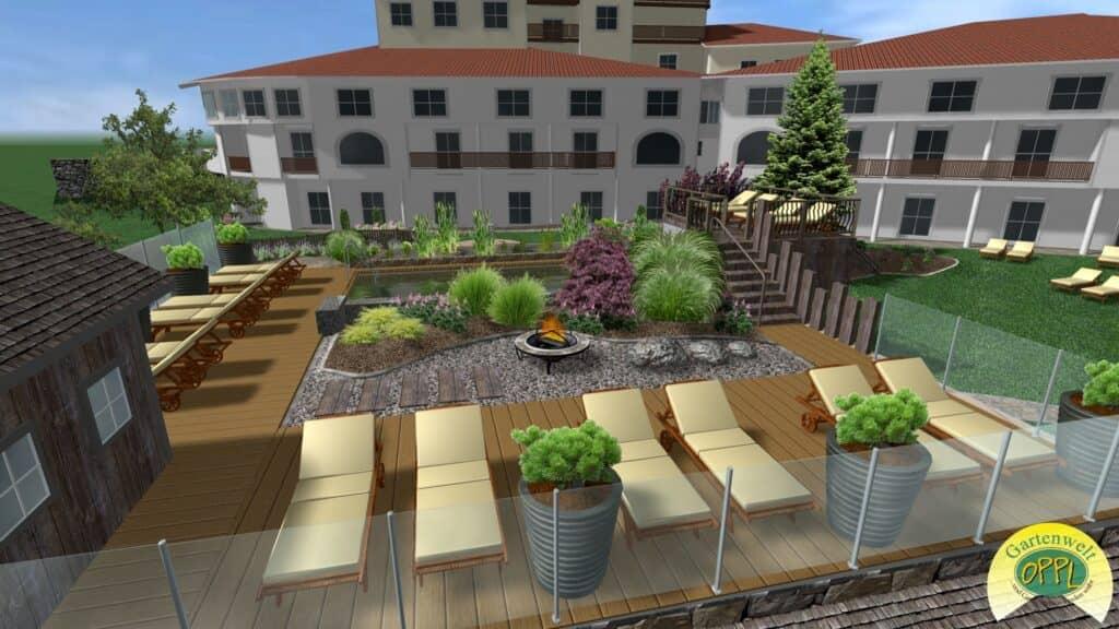 Gartenplanung Hotel