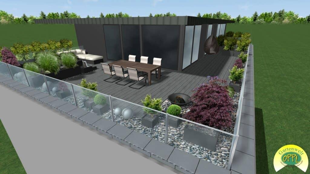 Gartenplan Dachterrasse