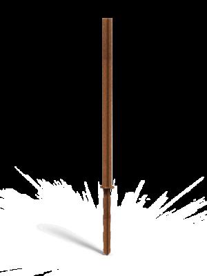 Montagestange Cortenstahl