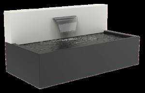 Wasserbecken mit Mauer Aluminium im Einsatz
